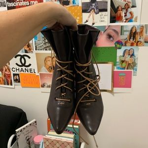 Zimmermann Lace Up Booties
